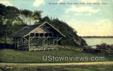 Fort Hale Park - New Haven, Connecticut CT Postcard