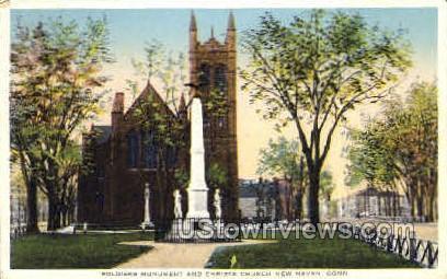 Soldiers' Monument - New Haven, Connecticut CT Postcard