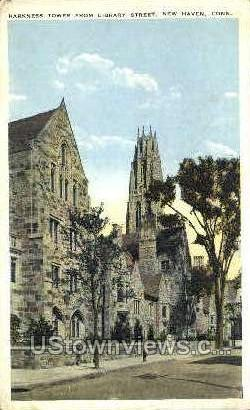 Harkness Memorial Tower - New Haven, Connecticut CT Postcard