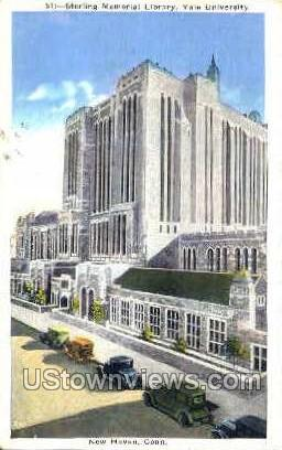 Sterling Memorial Library - New Haven, Connecticut CT Postcard
