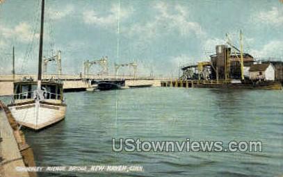 Kimberley Avenue Bridge - New Haven, Connecticut CT Postcard