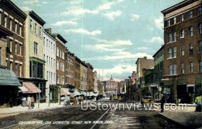 Congress Avenue - New Haven, Connecticut CT Postcard