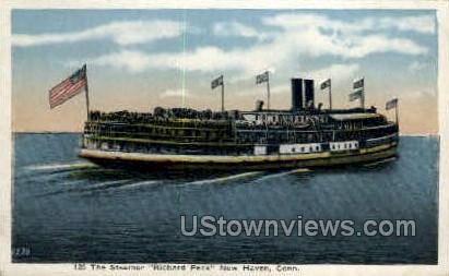 Steamer Richard Peck - New Haven, Connecticut CT Postcard