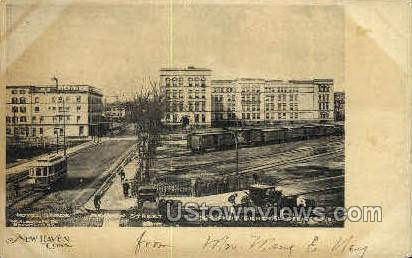 Meadow Street - New Haven, Connecticut CT Postcard