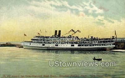 Yale-Harvard Boat Race - New Haven, Connecticut CT Postcard