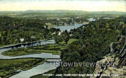 Whitney Lake - New Haven, Connecticut CT Postcard