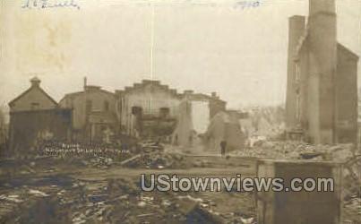 Jail Fire, April 13th, 1910 - New Haven, Connecticut CT Postcard