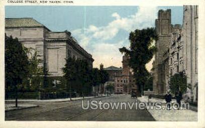 College Street - New Haven, Connecticut CT Postcard