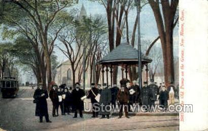 Old Pump on the Green - New Haven, Connecticut CT Postcard