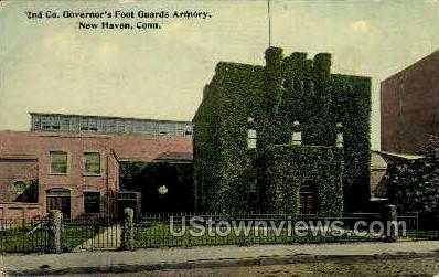 Foot Guard Armory - New Haven, Connecticut CT Postcard