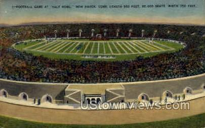 Yale Bowl Football Game - New Haven, Connecticut CT Postcard