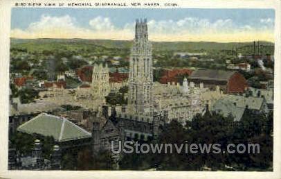 Memorial Quadrangle - New Haven, Connecticut CT Postcard