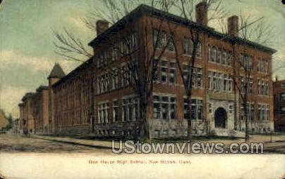 New Haven High School - Connecticut CT Postcard
