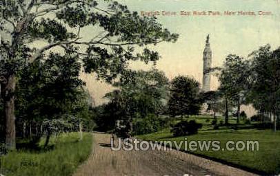 East Rock - New Haven, Connecticut CT Postcard
