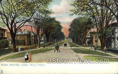 Hillhouse Avenue - New Haven, Connecticut CT Postcard