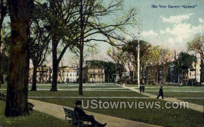 New Haven Green - Connecticut CT Postcard