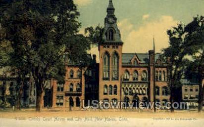Court House - New Haven, Connecticut CT Postcard
