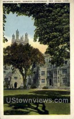 Branford Court - New Haven, Connecticut CT Postcard