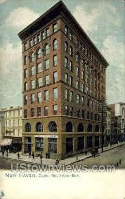First National Bank - New Haven, Connecticut CT Postcard