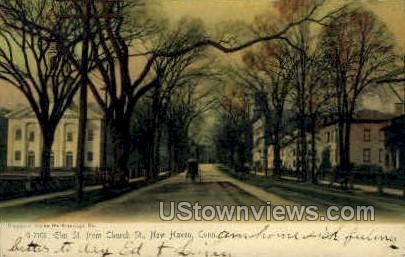 Elm Street - New Haven, Connecticut CT Postcard