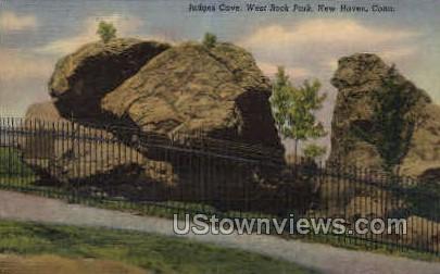 Judge's Cave - New Haven, Connecticut CT Postcard