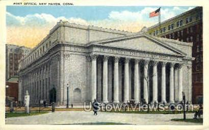 Post Office - New Haven, Connecticut CT Postcard