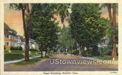 Broadway - Norwich, Connecticut CT Postcard