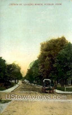 Church Street - Putnam, Connecticut CT Postcard