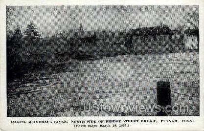 Quinebaug River - Putnam, Connecticut CT Postcard