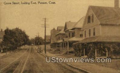 Grove Street - Putnam, Connecticut CT Postcard