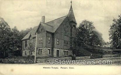 Masonic Temple - Putnam, Connecticut CT Postcard