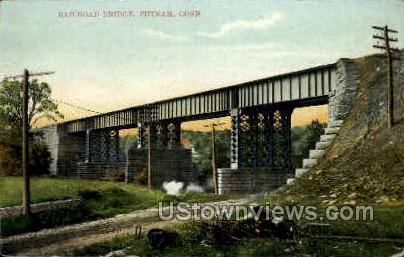 Railroad Bridge - Putnam, Connecticut CT Postcard