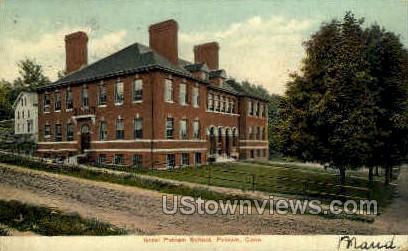 Israel Putnam School - Connecticut CT Postcard