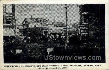 Bullock Street - Putnam, Connecticut CT Postcard