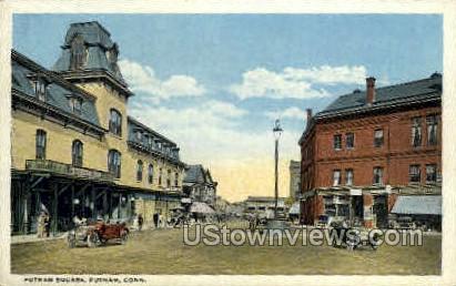 Putnam Square - Connecticut CT Postcard