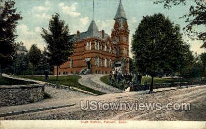 High School - Putnam, Connecticut CT Postcard