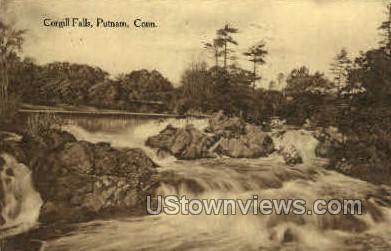 Cargill Falls - Putnam, Connecticut CT Postcard