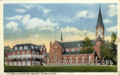 St. Mary's Church - Putnam, Connecticut CT Postcard