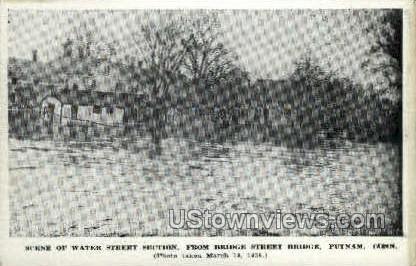 Water Street - Putnam, Connecticut CT Postcard