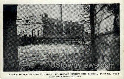 Providence Street Red Bridge - Putnam, Connecticut CT Postcard