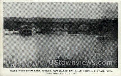 Park Street - Putnam, Connecticut CT Postcard