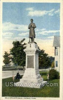 Soldiers' Monument - Putnam, Connecticut CT Postcard