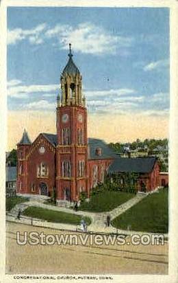 Congregational Church - Putnam, Connecticut CT Postcard