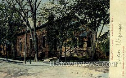 Russel Free Library - Middletown, Connecticut CT Postcard