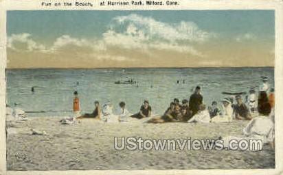 Harrison Park - Milford, Connecticut CT Postcard