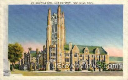 Yale, Sheffield Hall - New Haven, Connecticut CT Postcard