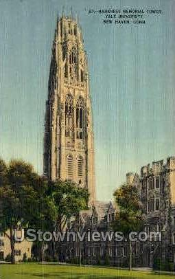 Yale, Harkness Memorial Tower - New Haven, Connecticut CT Postcard