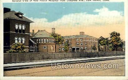 New Haven Hospital - Connecticut CT Postcard