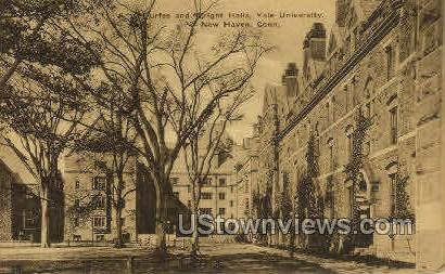 Yale, Durfee and Wright Halls - New Haven, Connecticut CT Postcard