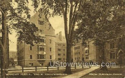 Yale, Wright Hall - New Haven, Connecticut CT Postcard